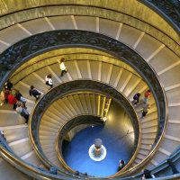 A photo of the Bramante Staircase in Rome