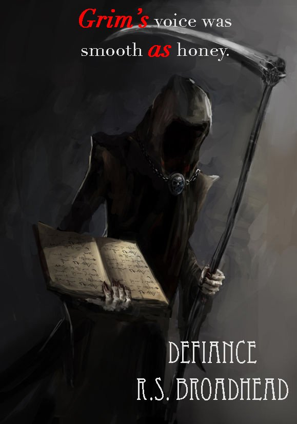 A photo representing the Grim Reaper, from Defiance, by R S Broadhead