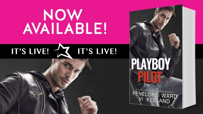 Promo banner for Playboy Pilot by Vi Keeland and Penelope Ward