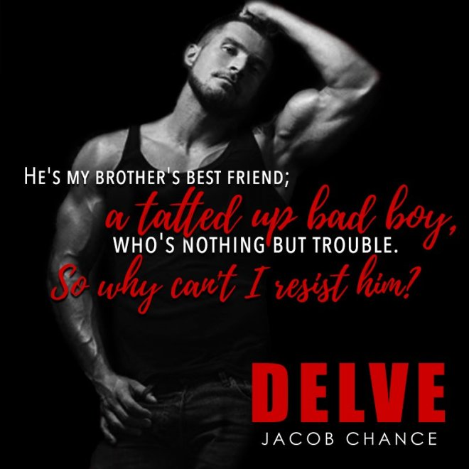 A photo of a man in a sleeveless tshirt with a quote from Delve