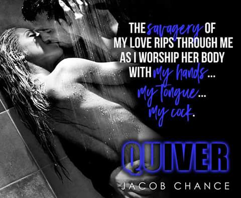 A photo of an intimate couple with a quote from QUIVER by Jacob Chance