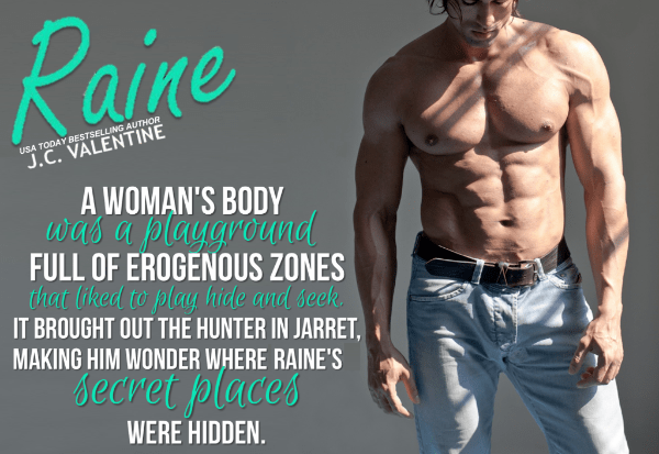 Photo teaser with a quote from Raine, by J. C. Valentine