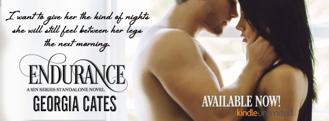 Release Day Banner for Endurance by Georgia Cates