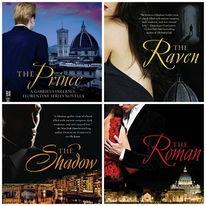 Collage of the covers from the Florentine Series by Sylvain Reynard