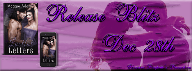 Release Banner for Lustful Letters by Maggie Adams