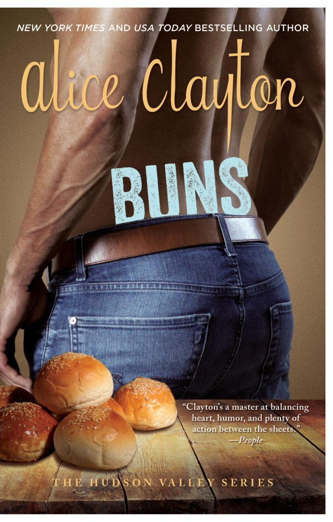 Front book cover, BUNS, by Alice Clayton