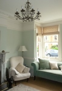 sash window, roman blind