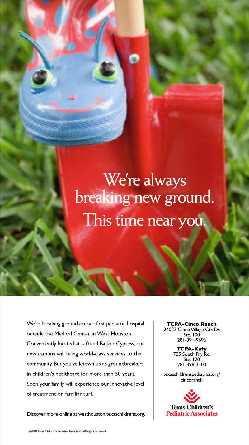 Texas Children's Hospital Magazine Ad Copy