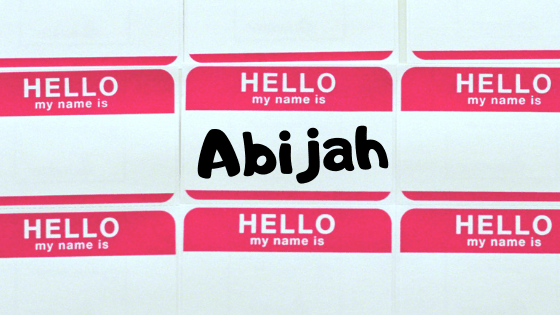 Abijah title graphic