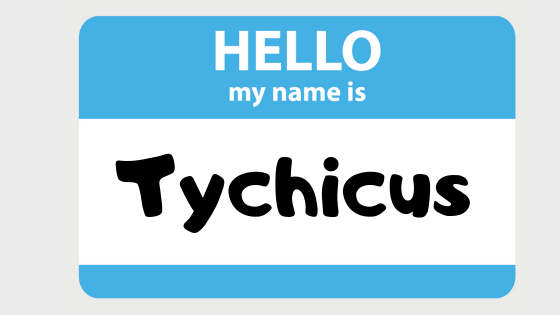 Tychicus title graphic