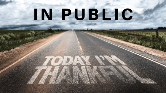 in public title graphic