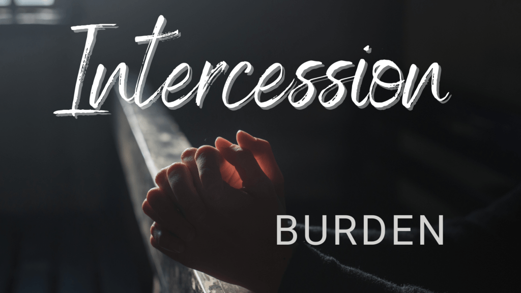 intercession burden title graphic