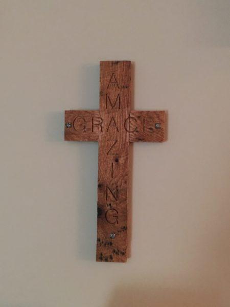 "18"" Amazing Grace Cross $24"