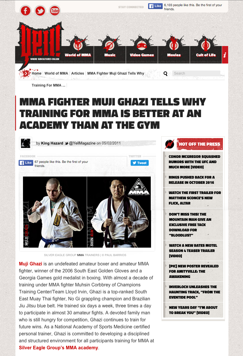 Pictures of MMA trainers - Yell Magazine