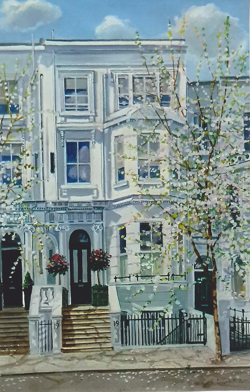 Palace Gardens Terrace, blossom