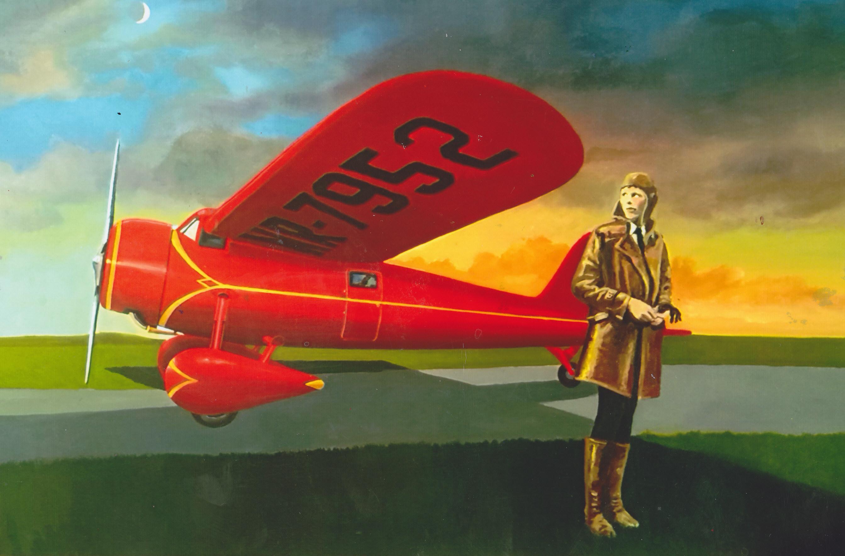 Amelia Earhart (5ft x 7ft.) _0006
