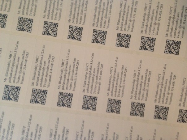 QR Codes on stickers
