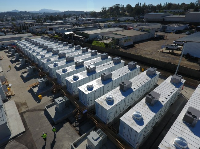 A battery installation like the one on San Diego Gas & Electric's grid in southern California could be in store for Australia.