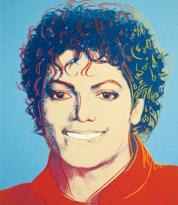 Andy Warhol Painting Michael Jackson