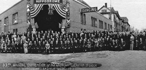 THEN: The Metropolitan Tract's Hippodrome was nearly new when it hosted the A.F. of L. annual convention in 1913.