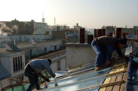 Arsene, roof repairs