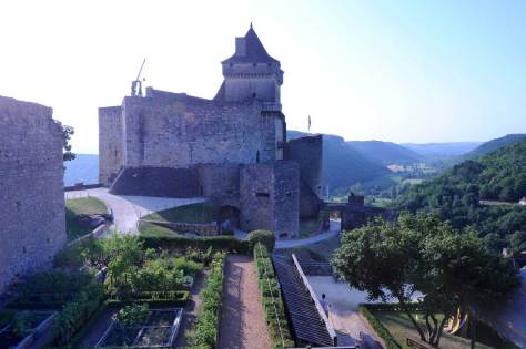 The chateau and garden of Castenaud