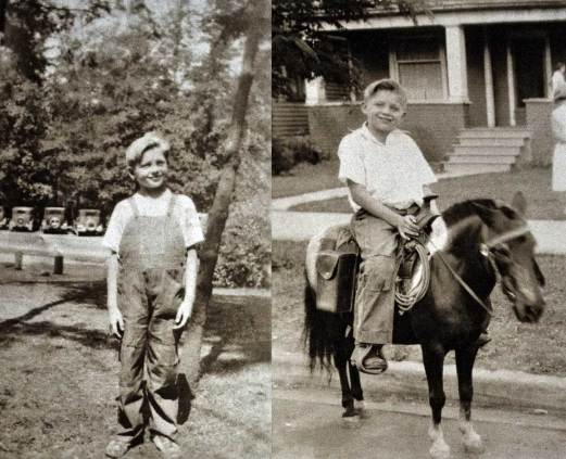 Archivist-Antiquarian as Young-Equestrian posing in front of the Berner family home on Seattle's Cherry Street.