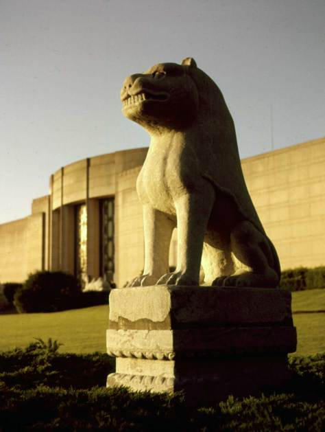 Lion in front of Seattle Art Museum, June 19, 1962