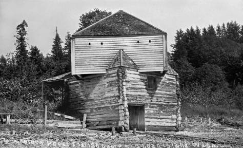 THEN: The English Camp Blockhouse on San Juan Island, also snapped around 1900. Site of the infamous Pig War (a 13-year standoff between Yanks and Brits beginning in 1959 with the shooting of a British pig by an American settler) which eventually led to U.S. possession of the San Juan Islands.