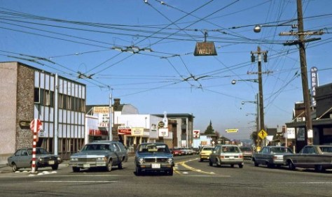 Queen Anne Avenue North from Galer Street, March 10, 1979.