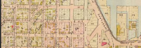 A detail of that corner of the lake pulled from the 1912 Baist real estate map.