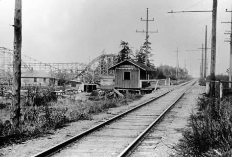 Bitter Lake station beside Playland