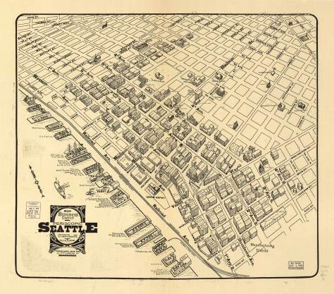 1903 Birdseye of the Seattle Business District
