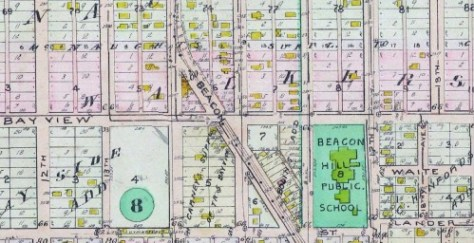 1912 Baist Real Estate Map detail centered on Bayview, Beacon Ave. S. and 15th Ave. South.