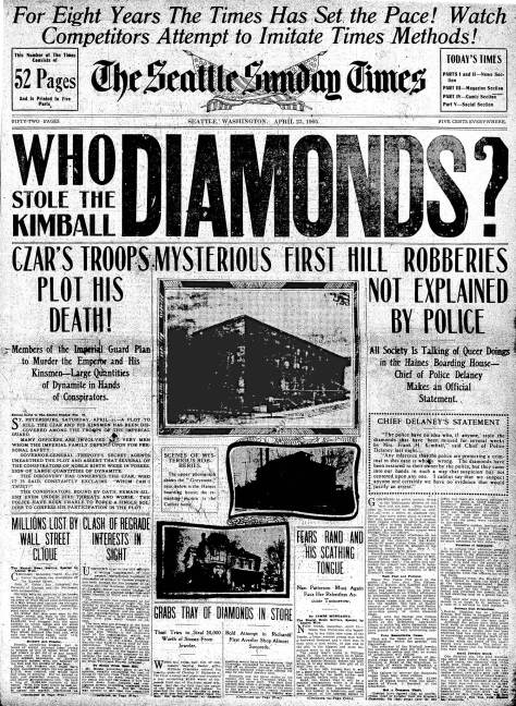 The Seattle Times April 23, 1905, Front Page