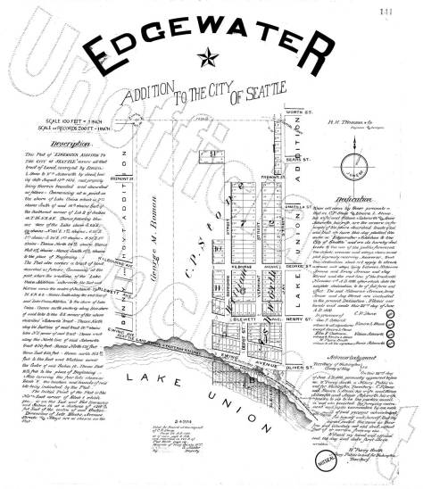 Edgewater Addition map from the 1890s