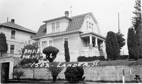 The neighbor at the northeast corner of Lander St. and 15th Ave. N.. addressed 1502 Lander Street.