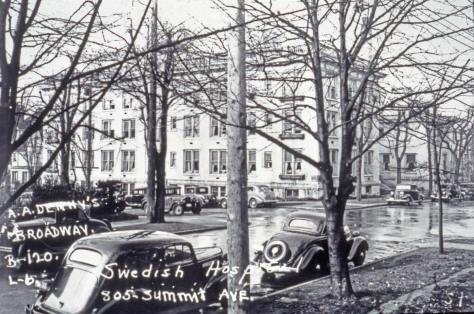 Another Tax photo, this one showing Swedish Hospital across the intersection of Summit and Columbia - looking northwest.