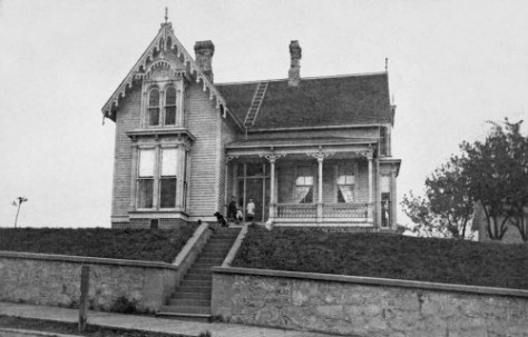 Arthur and Mary Denny's home at the southeast corner of