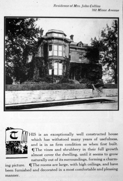 "A page from the early-20th Century Beaux-Arts book on Seattle's then ""finer homes"""