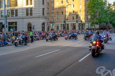 Seattle police motorcycle drill team