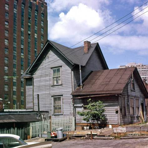 THEN:  Built in the mid-1880s at 1522 7th Avenue, the Anthony family home was part of a building boom developing this north end neighborhood then into a community of clapboards.  Here 70 years later it is the lone survivor.  (Photo by Robert O. Shaw)