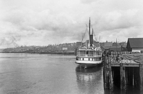 This look north across the water end of Yesler Whard was share with me long ago by Lucy Campbell Coe, who also shared with me her vivid recollections of the 1889 fire.