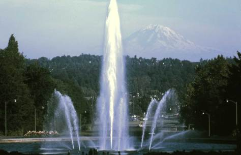 Years later, the Drumheller Fountain (a Spokane politician enamored with the UW) with