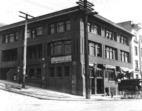 Zindorf's neighbor the Columbia at the southeast corner of 7th and Columbia.  This view of its recorded by public works photographer James Lee in 1911.