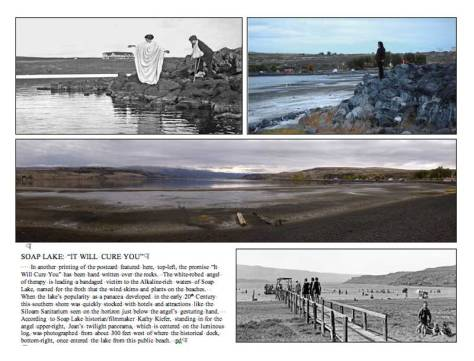 """A dummy page from Jean's and my book """"Washington Then and Now."""""""