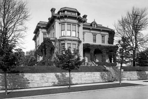THEN: Built in 1887, the Minor-Collins Home at the northeast corner of Minor Avenue and Cherry Street was one of the grandest and longest surviving pioneer mansions on First Hill. (Courtesy Historic Seattle)