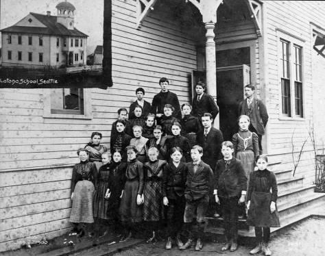 """Latona School, """"Class, Jan. 22, 1900."""""""