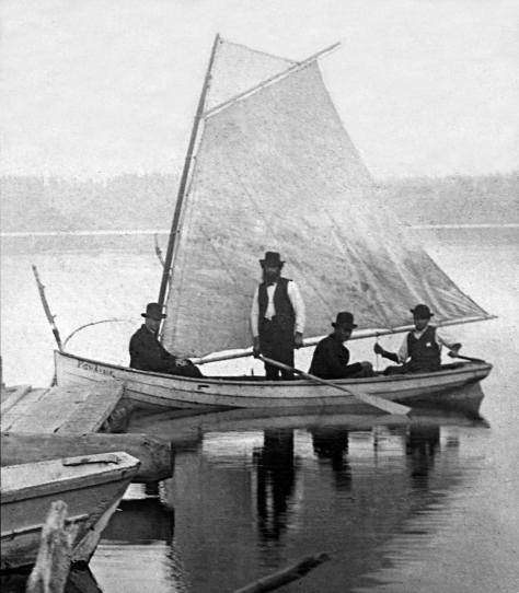 Appearing in the same Lowman album, this may be the same sail boat, although this was is not dated.  Aftern knowning this image since Michael Maslan first showed it to me, I did not until this afternoon notice that it is a detail made - in part - from the print that follows.  The negative for both is of course wider, at least to the right.  Still not date, but the subject is identified.  (Courtesy Michael Maslan)