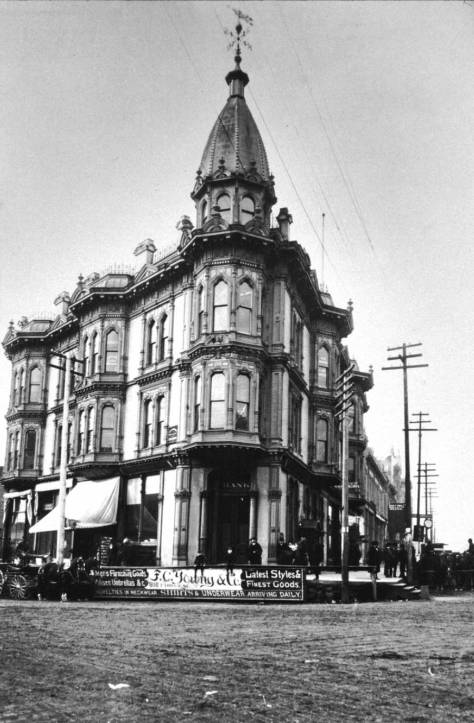 The Yesler-Leary building design by Boone when he was new to Seattle.